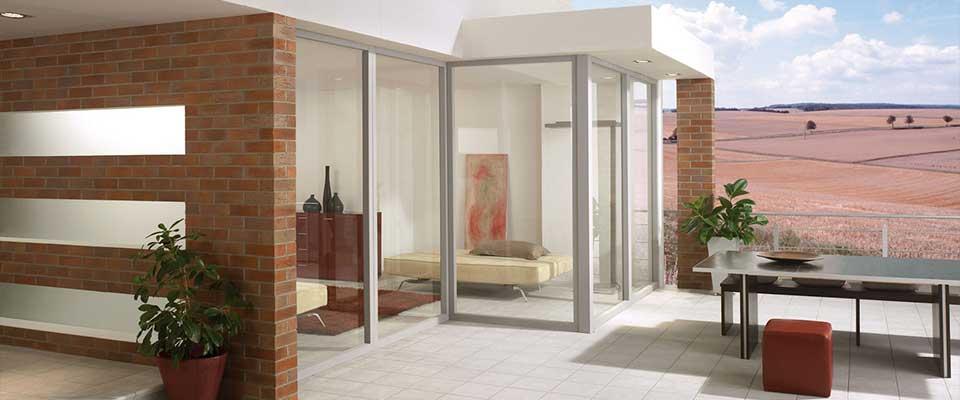 barrierefreies wohnen schiebet rsysteme im balkon und. Black Bedroom Furniture Sets. Home Design Ideas