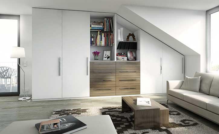 stauraum optimal nutzen ohne verlust von wohnkomfort. Black Bedroom Furniture Sets. Home Design Ideas